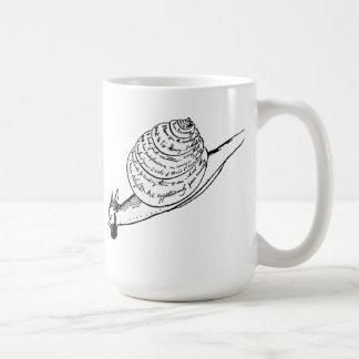 Edward Lear's Snail Mail Basic White Mug