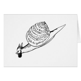 Edward Lear's Snail Mail Card