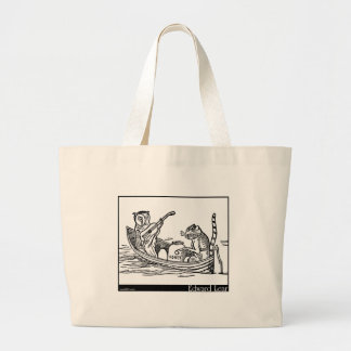 Edward Lear's The Owl and the Pussy-Cat Large Tote Bag