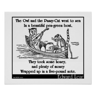 Edward Lear's The Owl and the Pussy-Cat Posters
