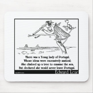 Edward Lear's Young Lady of Portugal Limerick Mouse Pad