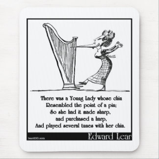 Edward Lear's Young Lady whose chin Limerick Mouse Pad