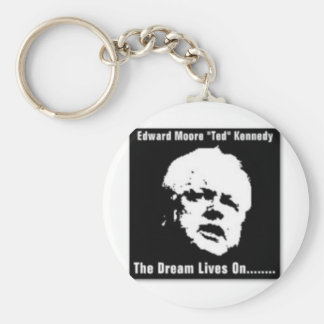 """Edward Moore """"Ted"""" Kennedy Basic Round Button Key Ring"""