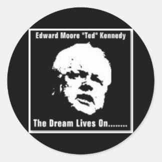 "Edward Moore ""Ted"" Kennedy Round Sticker"