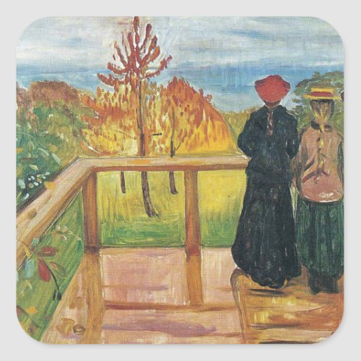 Edward Munch Art Painting Stickers