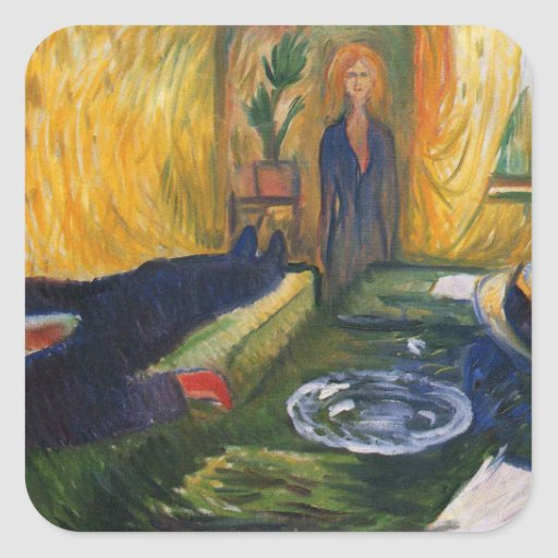 Edward Munch Art Painting Square Sticker