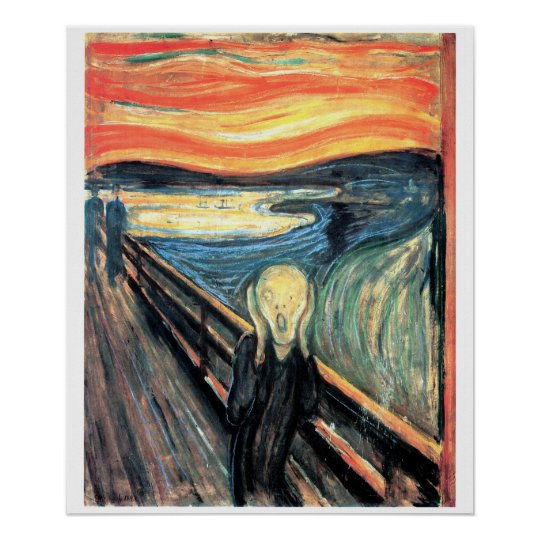 Edward Munch The Scream Art Poster