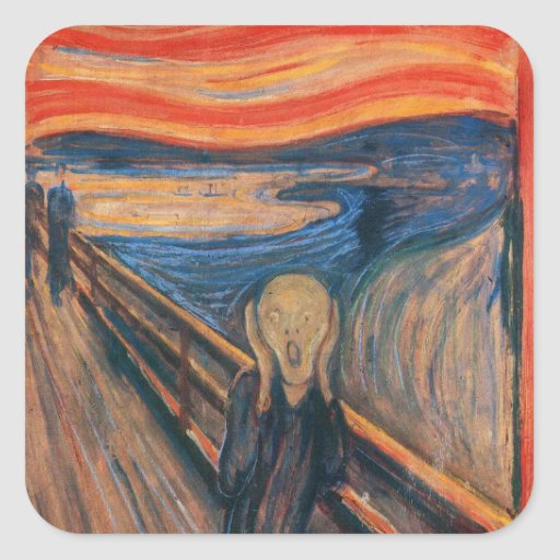 Edward Munch The Scream Square Stickers