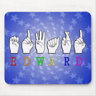 EDWARD NAMESIGN FINGERSPELLED ASL MOUSE PAD