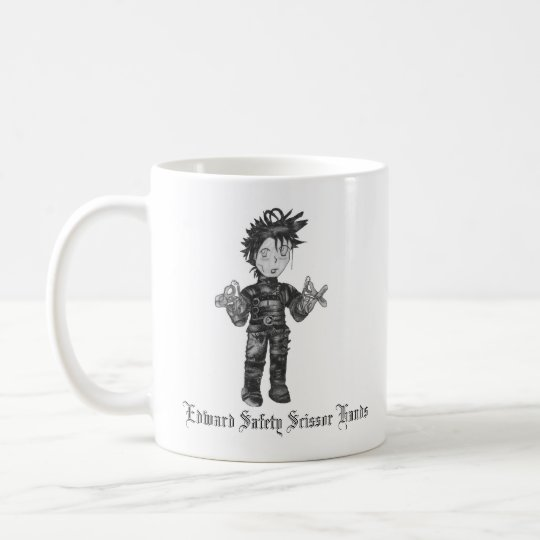 Edward Safety Scissor Hands Coffee Mug