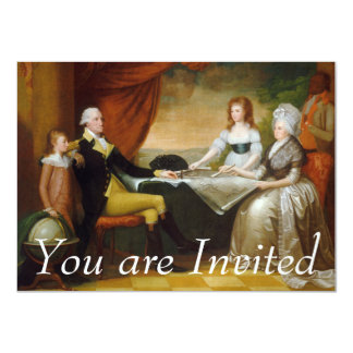 Edward Savage The Washington Family 11 Cm X 16 Cm Invitation Card