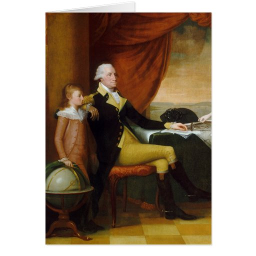 Edward Savage The Washington Family Card