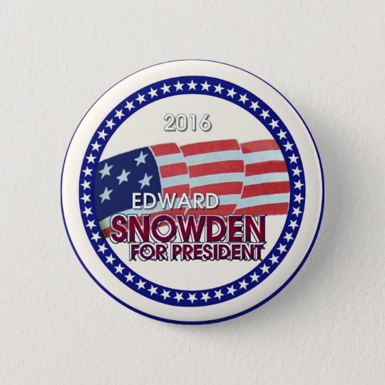 Edward Snowden for President 2016 6 Cm Round Badge
