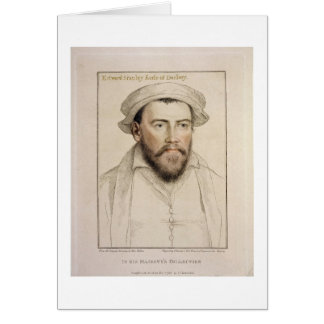 Edward Stanley Earle of Darby (1508-1572) engraved Card
