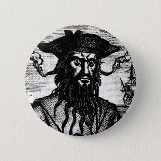 Edward Teach Portrait 6 Cm Round Badge