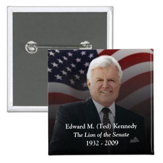 Edward (Ted) Kennedy Memorabilia - Square Button