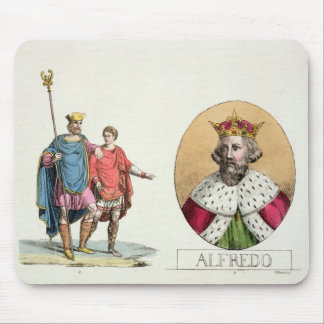 Edward the Confessor and King Alfred, plate 7 from Mouse Pad