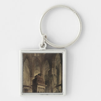 Edward the Confessor's Shrine, Westminster Abbey Silver-Colored Square Key Ring
