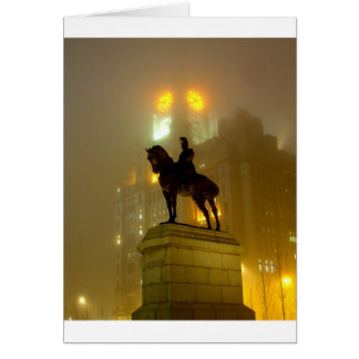 Edward V11 Statue, Pier Head, Liverpool UK Card