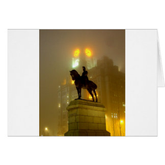 Edward V11 Statue, Pier Head, Liverpool UK Card