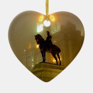 Edward V11 Statue, Pier Head, Liverpool UK Christmas Ornament