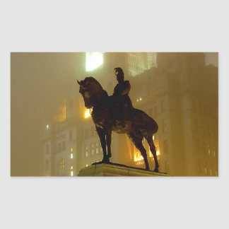 Edward V11 Statue, Pier Head, Liverpool UK Rectangular Sticker