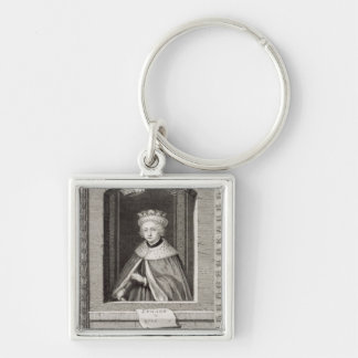 Edward V (1470-83) King of England in 1483, after Silver-Colored Square Key Ring