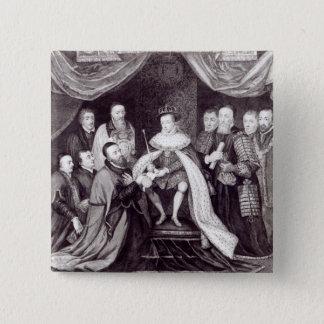 Edward VI Granting the Charter 15 Cm Square Badge