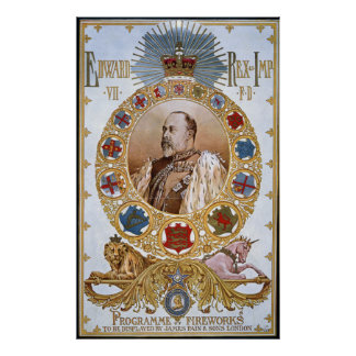 Edward VII, Programme of fireworks Posters