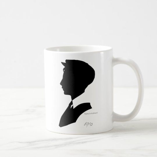 Edwardian Black and White Vintage Silhouette Coffee Mug