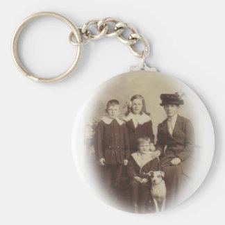 Edwardian Family Photo Key Chain
