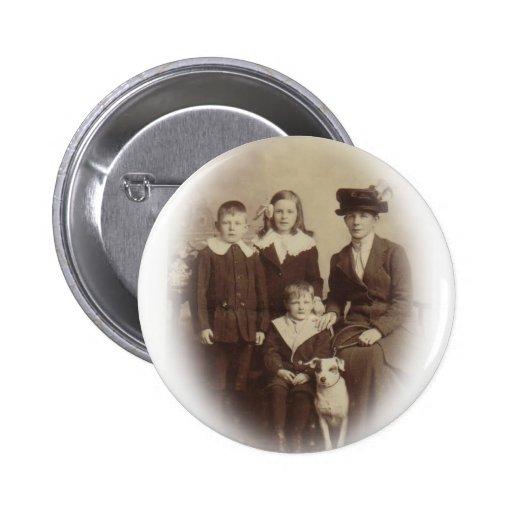 Edwardian Family Photo Pin