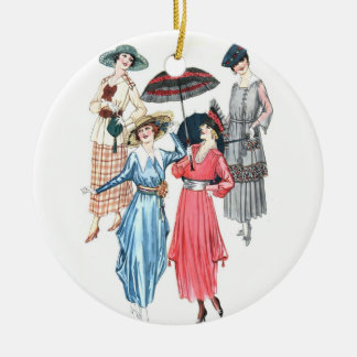Edwardian Women Fashion Ornament for Spring Summer