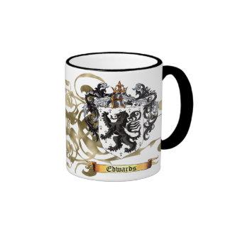 Edwards Coat of Arms Ringer Coffee Mug