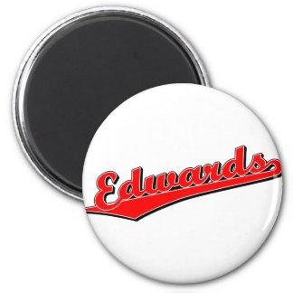 Edwards in Red 6 Cm Round Magnet