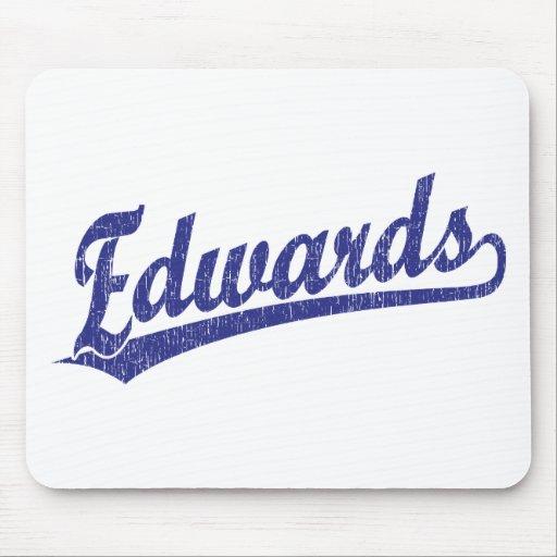 Edwards script logo in blue mouse pads