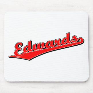 Edwards script logo in Red Mouse Mats