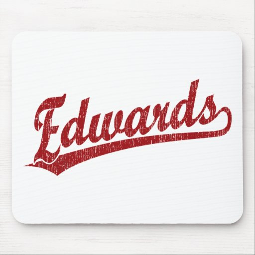Edwards script logo in red mouse pad