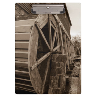 Edwards Water Wheel Sepia Clipboard