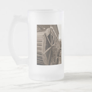 Edwards Water Wheel Sepia Frosted Glass Beer Mug