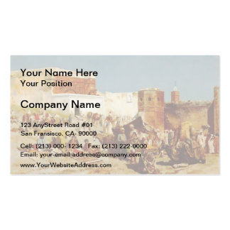 Edwin Lord Weeks- Open Market, Morocco Business Cards