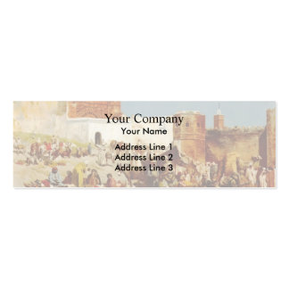 Edwin Lord Weeks- Open Market, Morocco Business Card Template