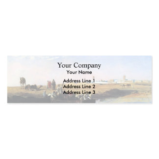 Edwin Lord Weeks- Scene at Sale, Morocco Business Card Template