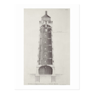 Edystone Lighthouse engraved by John Record (fl.17 Postcard