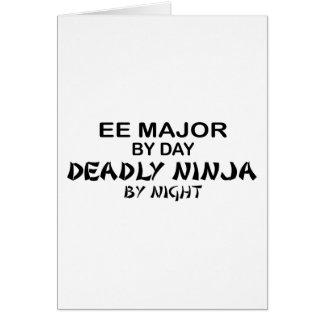 EE Major Deadly Ninja by Night Greeting Card