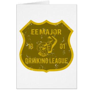EE Major Drinking League Greeting Card