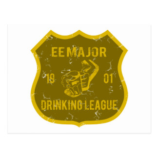 EE Major Drinking League Postcard
