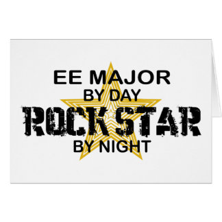 EE Major Rock Star by Night Greeting Card