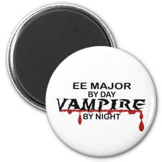 EE Major Vampire by Night 6 Cm Round Magnet