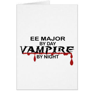 EE Major Vampire by Night Greeting Card